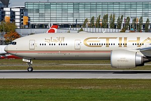 Etihad Airways Boeing 777-300 A7-ETS