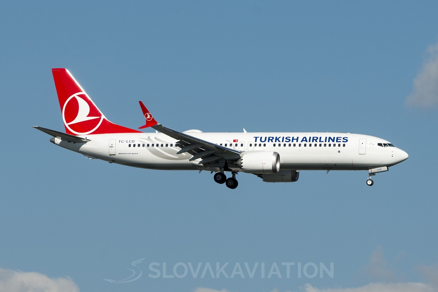 Turkish Airlines Boeing 737-MAX 8 TC-LCD
