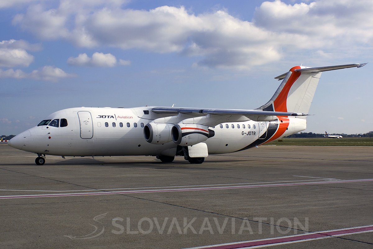 JOTA Aviation BAE Systems Avro RJ85 G-JOTR