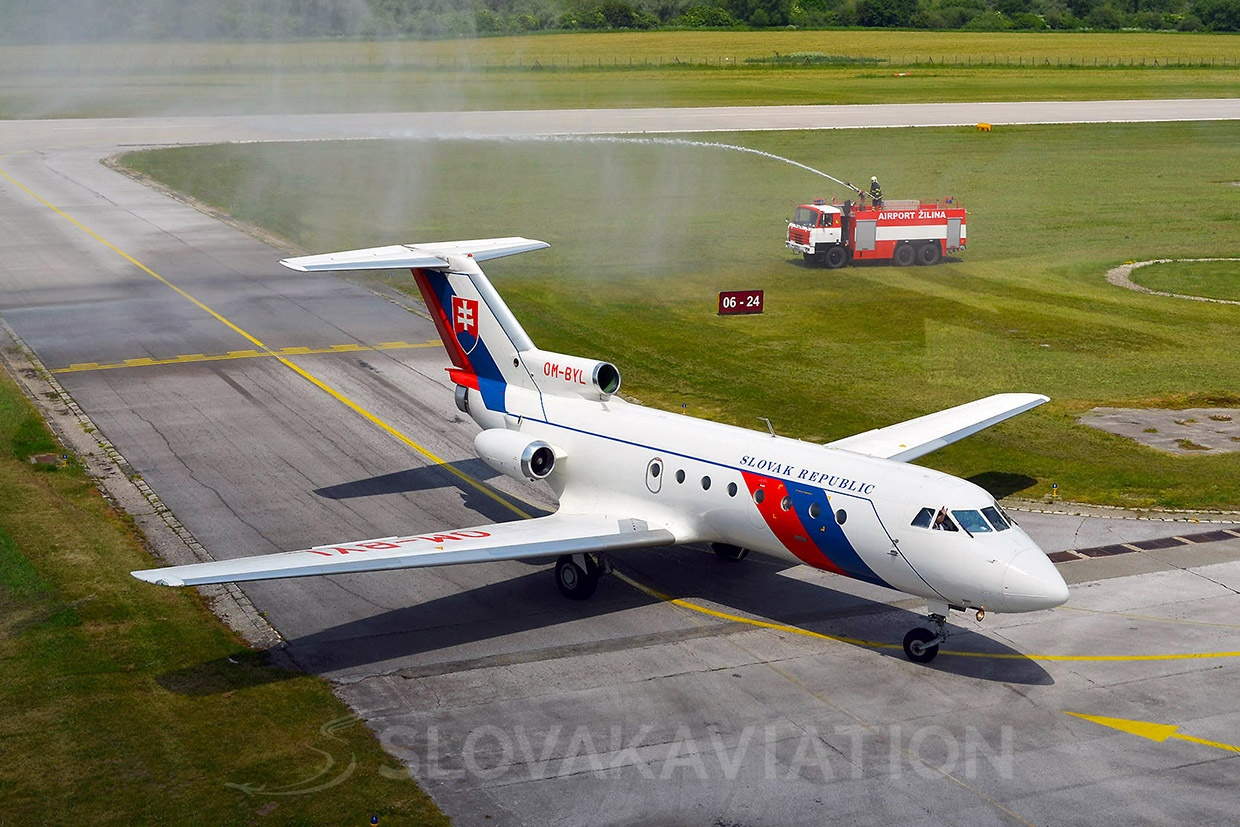 Slovak Government Flying Service Yakovlev Yak-40 OM-BYL